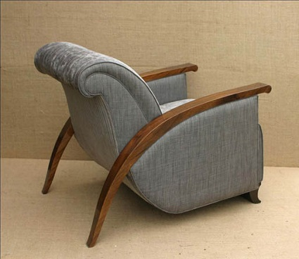 Yacht chair Grey and Walnut